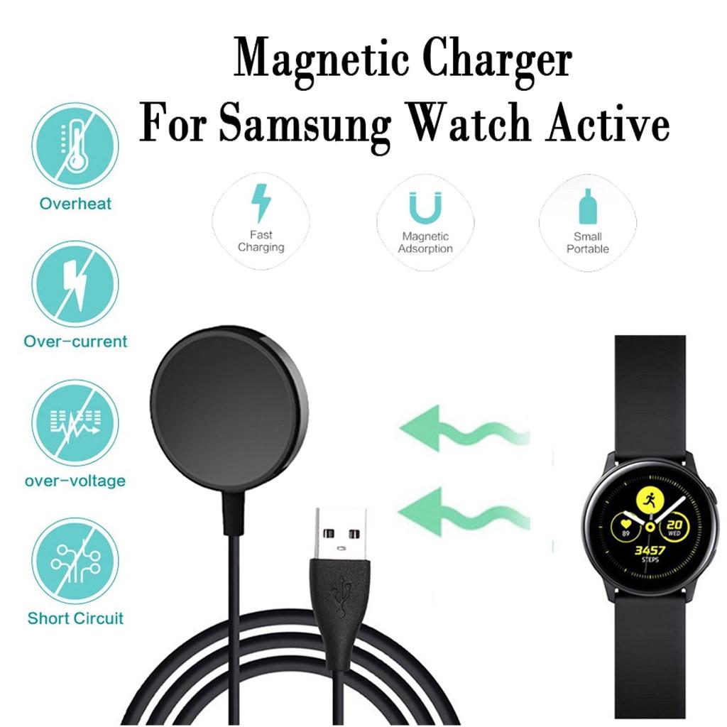 Cargador inalámbrico para reloj Samsung Galaxy, Cargador rápido activo, carga inalámbrica Qi para i Watch, cargador portátil