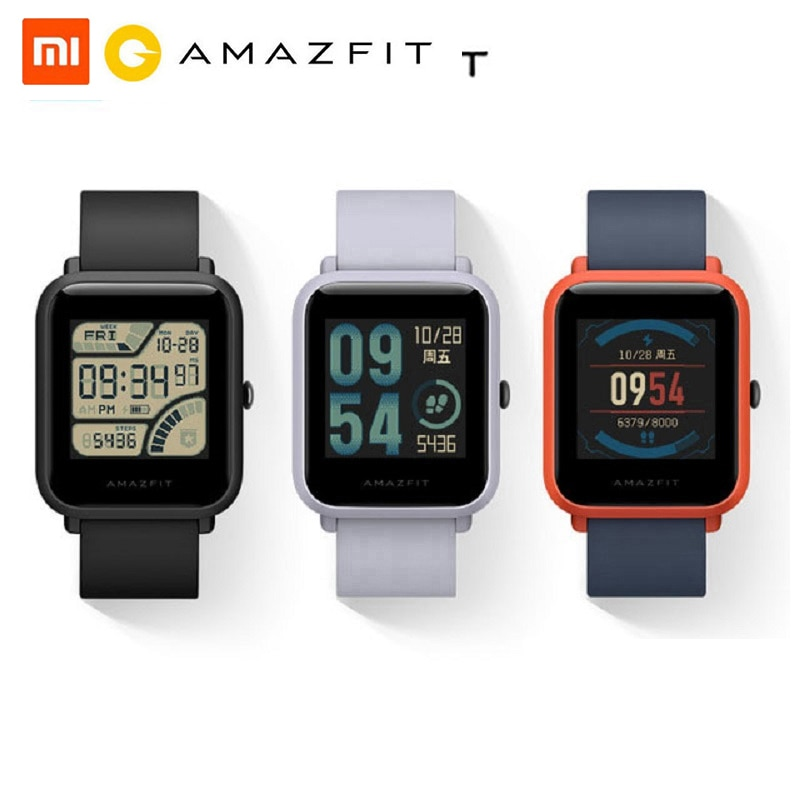 Huami amazfit bip relógio inteligente bluetooth gps esporte monitor de freqüência cardíaca ip68 à prova dip68 água lembrete chamada mifit app alarme vibração