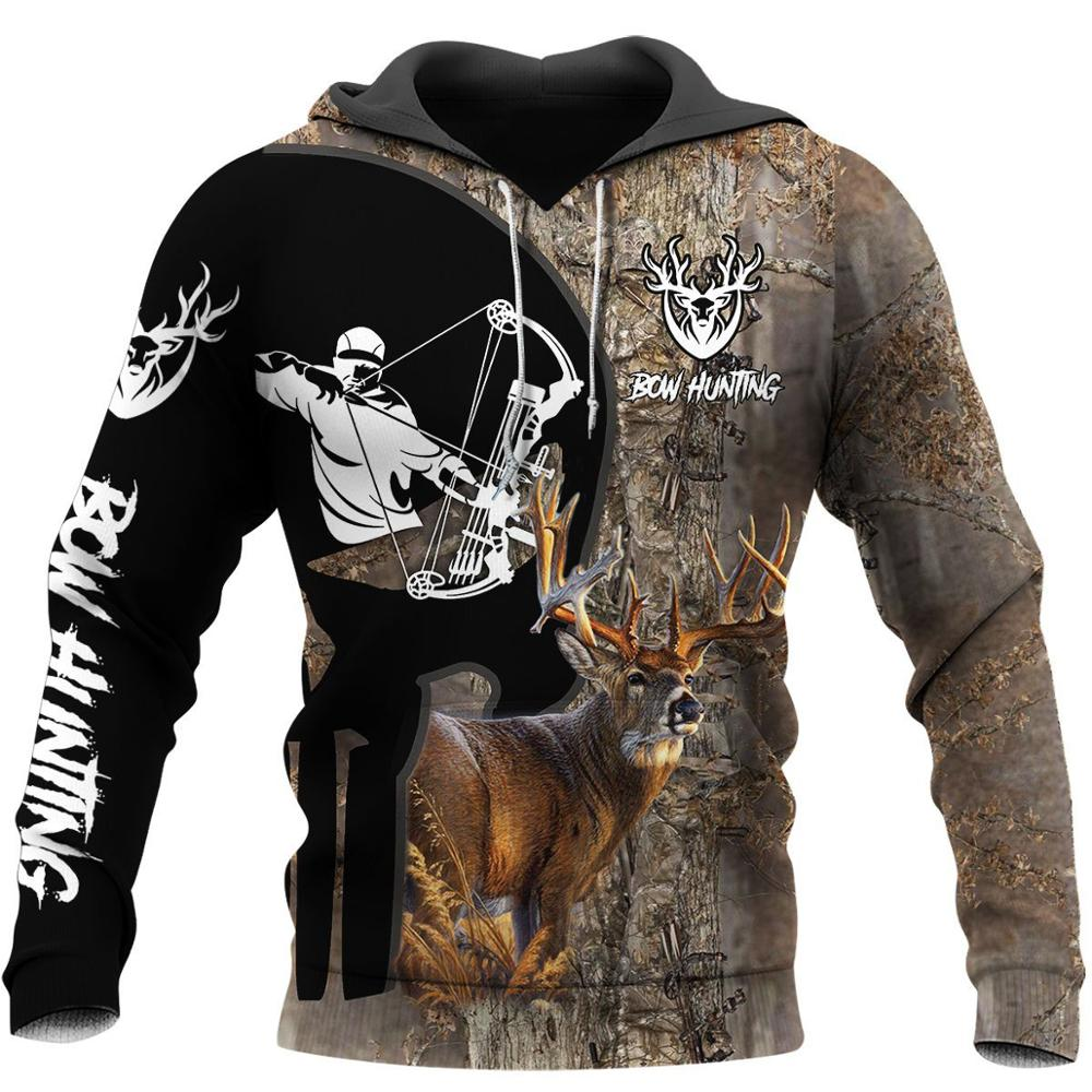Sudaderas con capucha Retro con estampado de ciervos en 3D de forest hunting para hombres, Sudadera con capucha a la moda de Harajuku, Sudadera con capucha informal de otoño, ropa de calle, Sudadera con capucha SL-12