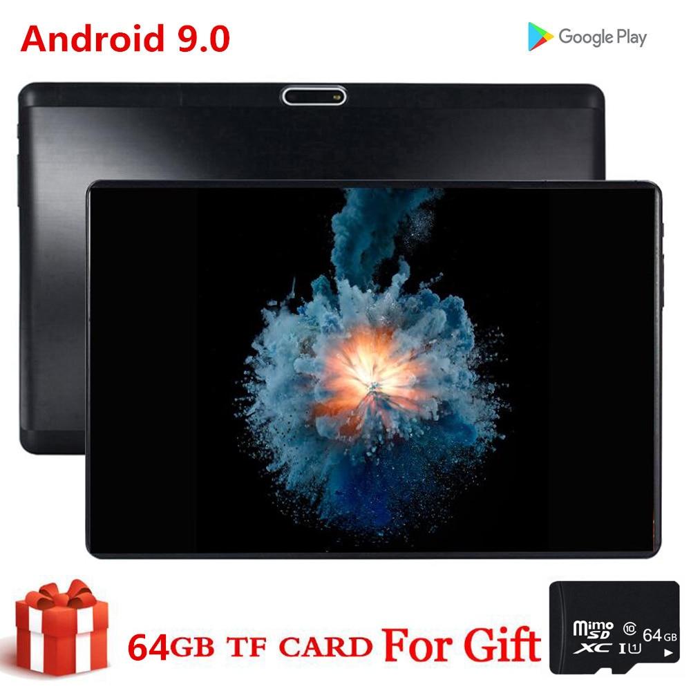Tarjeta de regalo de 64GB, tableta de 10 pulgadas S119 MID PC, Phablet Global Bluetooth Wifi, Android 9,0 Core, Tarjeta SIM 2.5D Dual, tableta CE Band 32GB