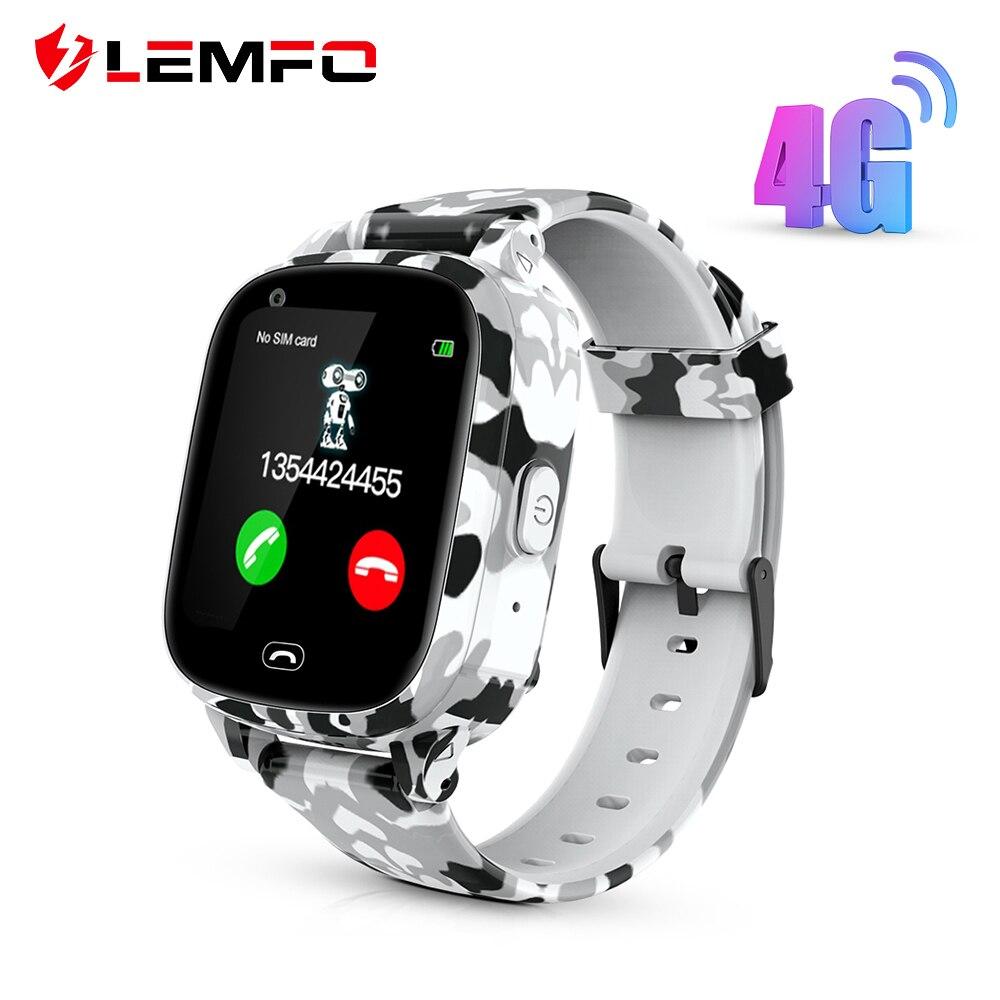 LEMFO 4G reloj inteligente para niños compatible con tarjeta SIM GPS WIFI Video llamadas Cámara completamente táctil pantalla 650mah batería relojes para niños