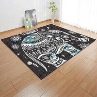 color elephant herd animal golden elephant printing bedroom living room non slip carpetfloor mat family decoration carpet