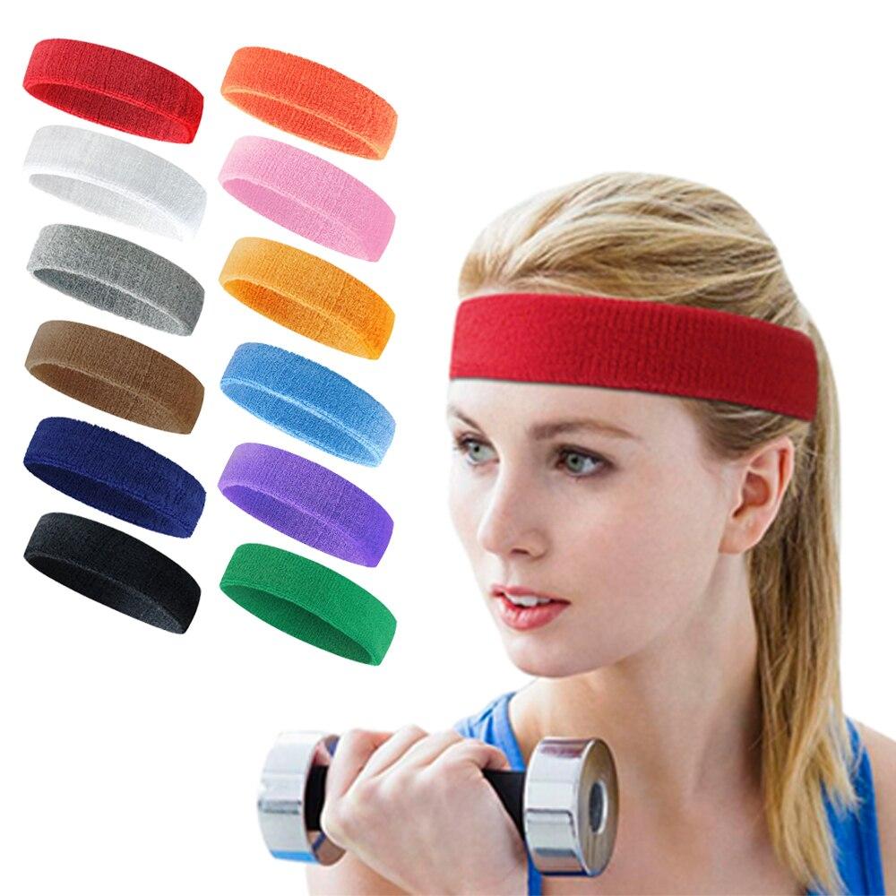 1 pcs yoga bandana esportes ginásio elástico cabeça banda dos homens mulheres sweatproof respirável faixa de cabelo suor sweatband