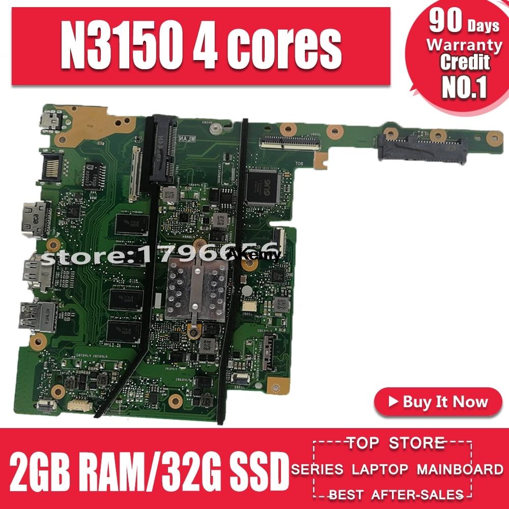 E502SA اللوحة الأم لأجهزة الكمبيوتر المحمول For Asus مناسبة لأجهزة الكمبيوتر المحمولة 15