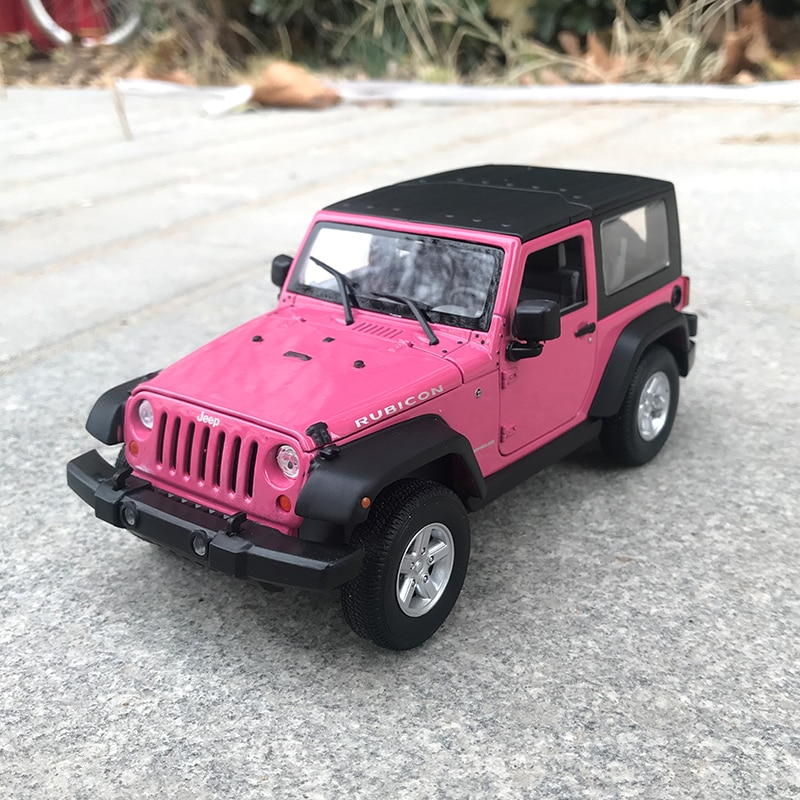 Welly 1/24 1:24 Scale 2007 Jeep Wrangler  SUV Car Vehicle Diecast Display Metal Alloy Collectible Model Children Boys Kids Toys