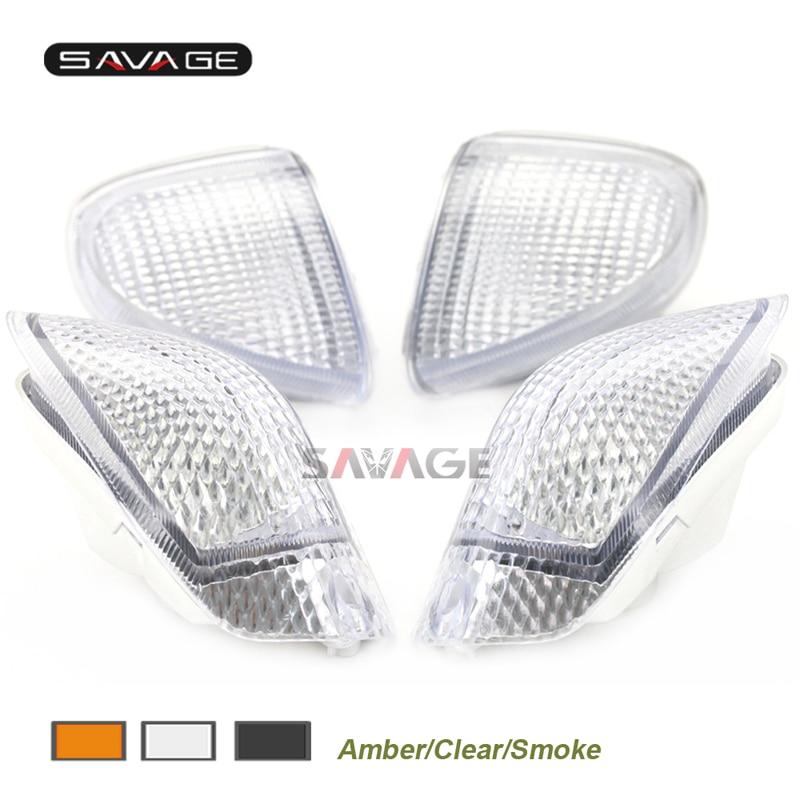 بدوره إشارات دراجة نارية ضوء عدسة لكاواساكي ZZR 1100D 1993-2001 ZX 11 النينجا LED مؤشر الإضاءة الوامض غطاء