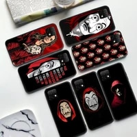 tv money heist house of paper phone case for samsung s5 s6 s7 s8 s9 s10 s20 s21 plus s10e ultra s20fe ultra edge shell cover