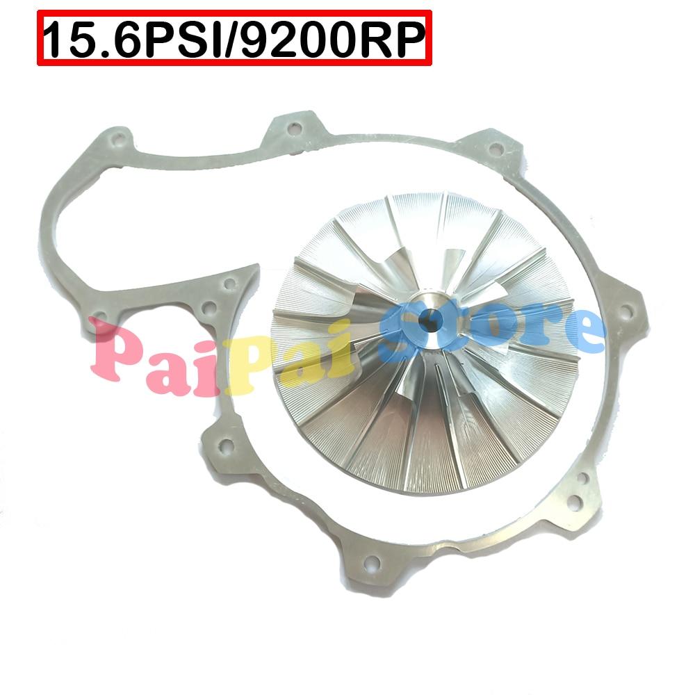 kinugawa billet turbo compressor wheel garrett gt1544 26 44 mm 6 6 blade 405 99011 406 Supercharger COMPRESSOR WHEEL Impeller Billet 420867195 with Spacer 15.6 PSI for Seadoo 255 260 RXT RXP RXP-X