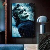 Toile de peinture murale avec film Todd Phillips furious Joker  affiches dart imprimees pour salon  maison  images murales  decor de cinema