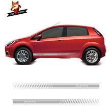 2 pçs listras laterais de corrida decalques do veículo adesivos auto gráficos de vinil carro adesivo decalque accessaries para fiat punto abarth