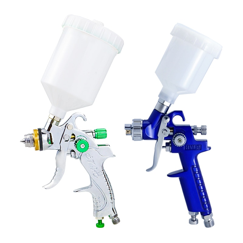 Pistola de Pintura Pistola de Pintura para Reparação Hvlp Airbrush para Reparação Automóvel Ferramenta Kit Pintura 600 125 ml Profissional G2008 – H2000