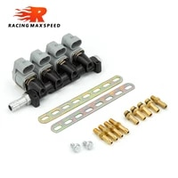 2 ohm car injector lpgcng sequential fuel system injection auto gas conversion kit injector rail black