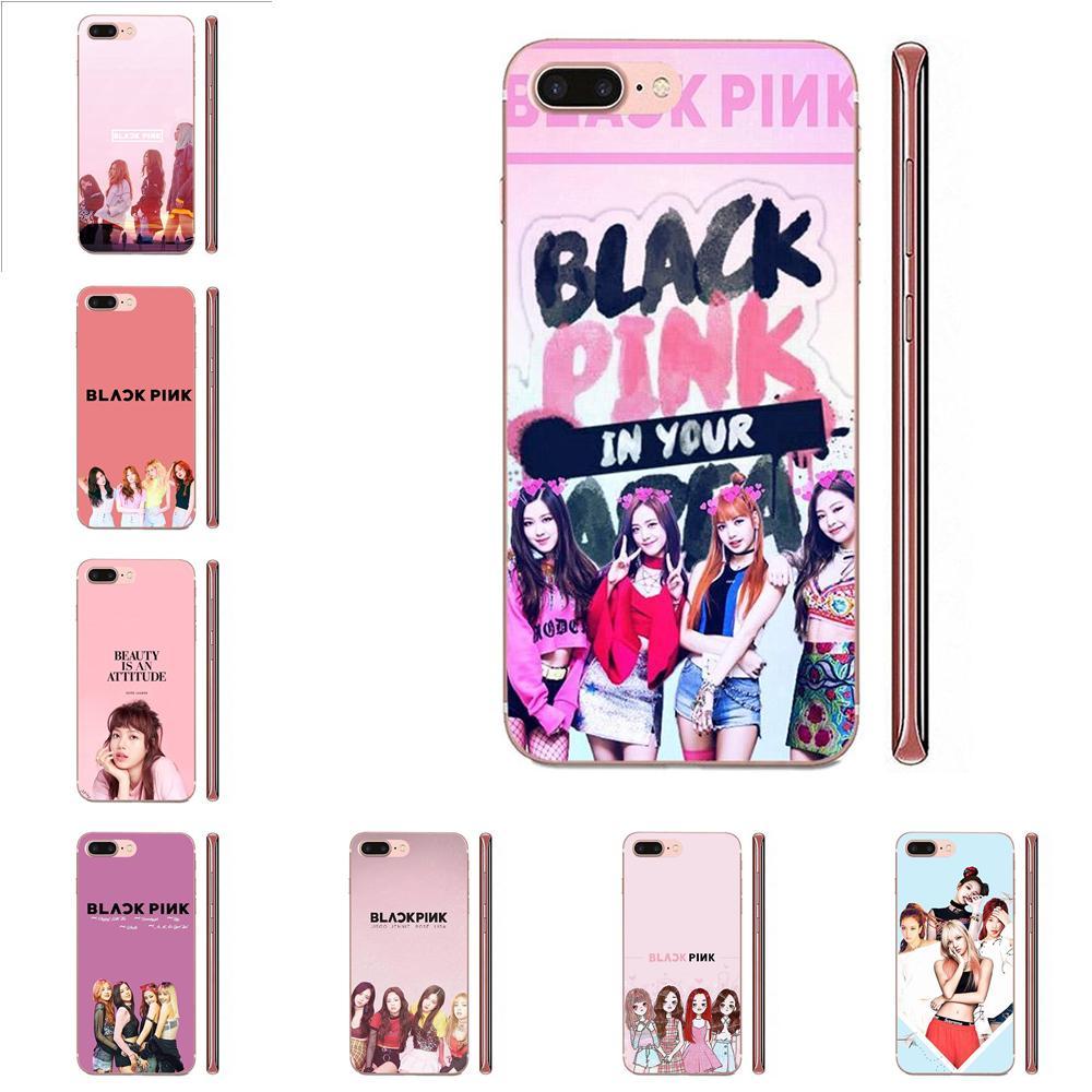 For HTC Desire 530 626 628 630 816 820 830 One A9 M7 M8 M9 M10 E9 U11 U12 Life Plus TPU Coque Black Pink Blackpink Kpop Collage