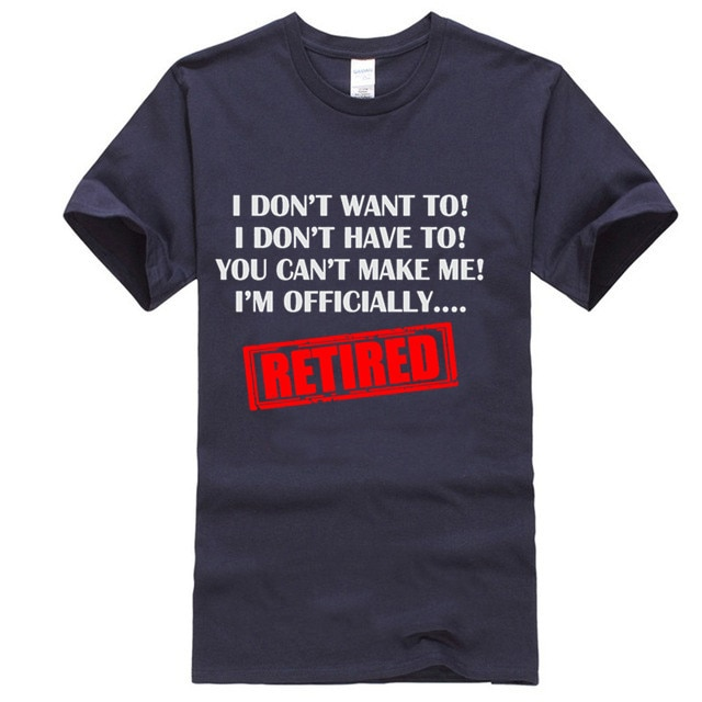Im Officially Retired Mens Funny Retirement T-Shirt Pensioner 65th 68th Birthday