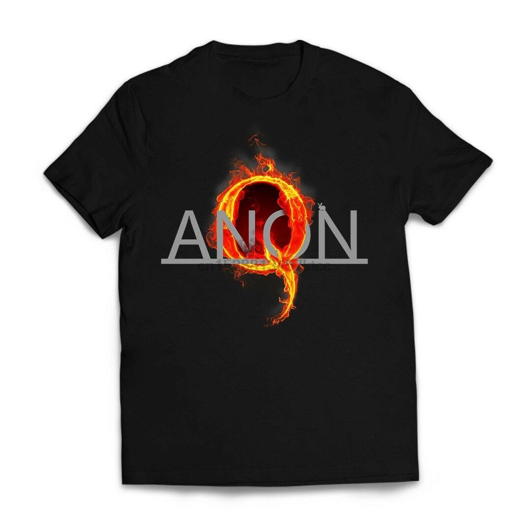 Camiseta Qanon Fire, 4 cadenas Wwg1Wga, nueva para hombres, 2. ª reforma Ar15 Maga Q Anon