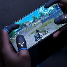2 Pair Breathable Mobile Game Controller Finger Sleeve Type Trigger for PUBG