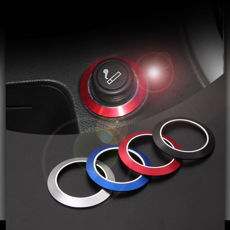 Vciic isqueiro decoração guarnição anel adesivos para chevrolet cruze sedan hatchback 2009-2013 acessórios de automóvel