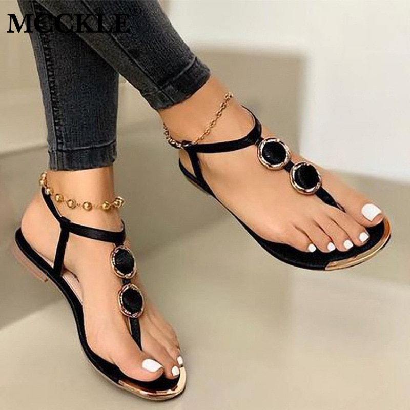 Women Sandals Buckle Flat Shoes Woman Flip Flops Ladies Thong Bohemia Sandalias Mujer Summer Beach S