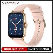 MAFAM P8Plus Smartwatch 2021 Новый 1,69 дюймов HD Экран дисплея фитнес браслет Heartrate извещение о входящем сообщении Смарт часы для мужчин и женщин