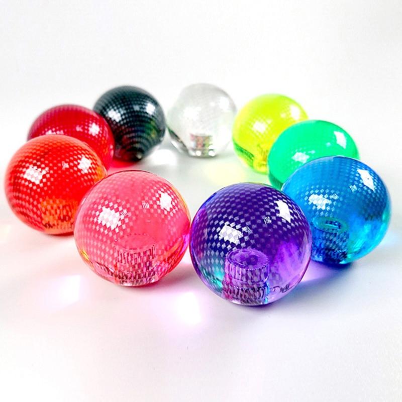 Reemplazo de Arcade KDiT KORI, fibra de carbono translúcida, mango de bola transparente, Joystick topball para Arcade ZIPPY SANWA, Joystick