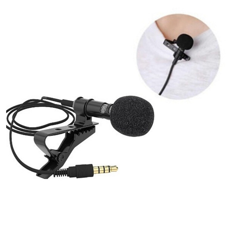 Mini 1 Uds 3,5mm Jack micrófono Lavalier Clip de corbata micrófonos micrófono...