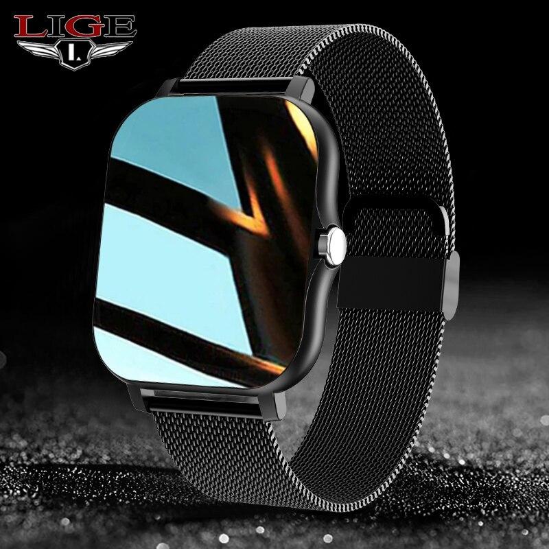 LIGE Sport Smart Watch Men Women 1.69