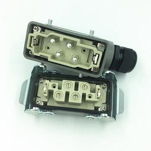 Heavy-duty Connector 80A Rectangular Hot Runner Plug HK-004/2 Industrial High-current Socket 4 Core 6 Core 12 Core