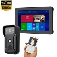 gamwter 9 inch record wireless wifi video door phone intercom system with hd1080p wired doorbell camerasupport remote unlock
