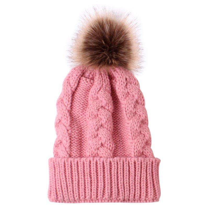Inverno meninos meninas chapéus de malha quente pai-criança boné crianças gorro do bebê