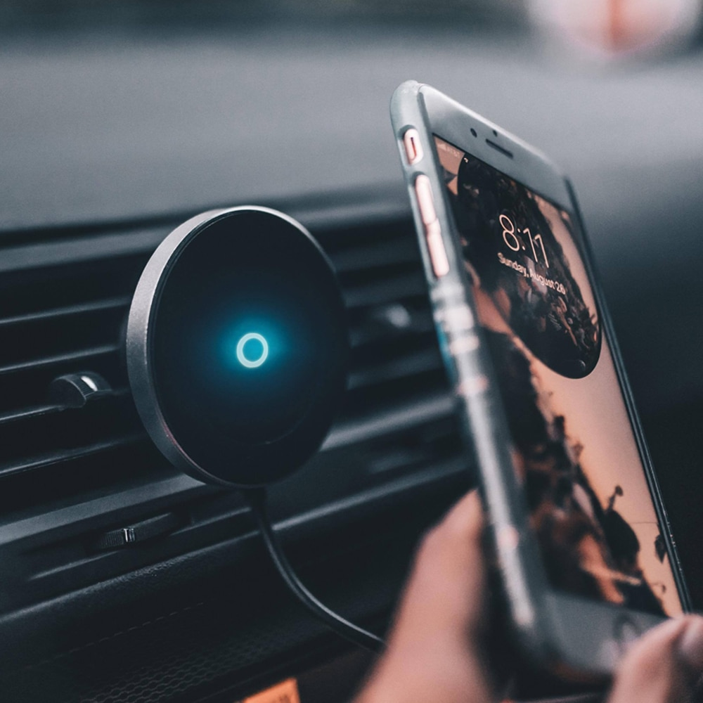 المغناطيسي اللاسلكية شاحن سيارة حامل آيفون 11 XS XR X 8 Plus المغناطيس حامل هاتف السيارة شاحن لاسلكي لسامسونج غالاكسي S9