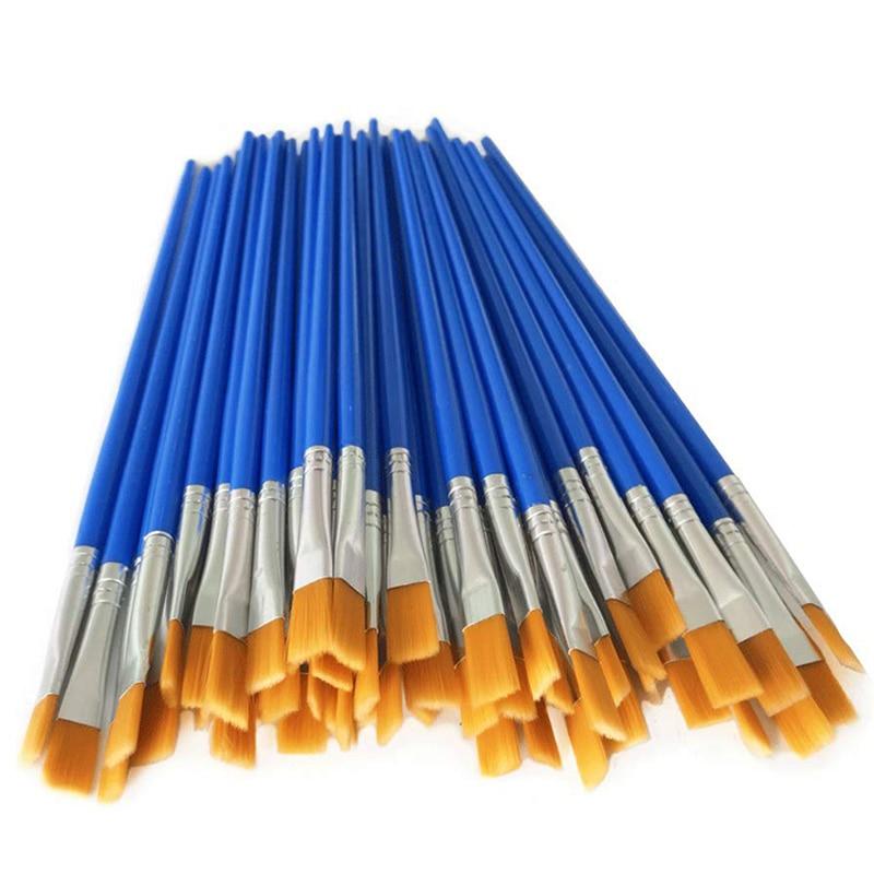 30 piezas del mismo tamaño pintura para el cabello de nylon pinceles para dibujar pinceles de acuarela pinceles de pintura pluma para proveedores de artista