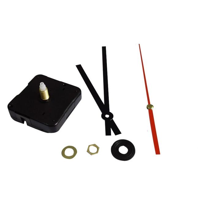 DIY Silent clock mechanism 12888 wall Clock Accessory kits Sweep Quartz Movement with black hands 9 /12 /15 /17 /20 /24 mm shaft