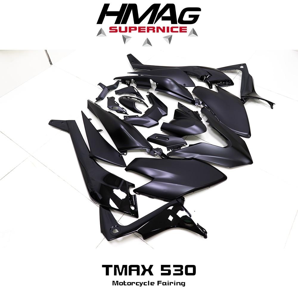 Para Yamaha TMAX 530 T-MAX 530, 2012, 2013, 2014, 2015, 2016, 2017, 2018, 2019 de plástico ABS Kit de carenado de inyección carrocería pernos