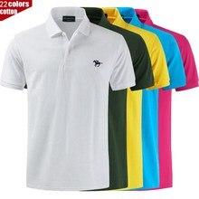 Polo de haute qualité logo couleur marque Polo décontracté polos hommes à manches courtes Polo nouveauté hauts t-shirt