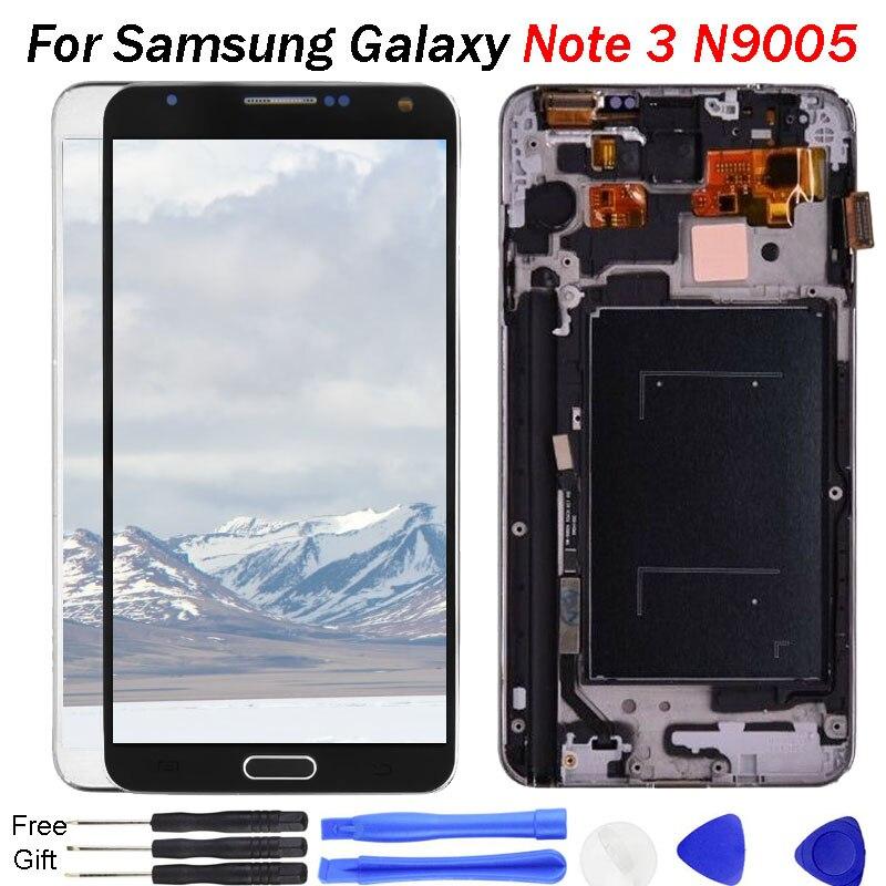 Para Samsung Galaxy Note 3 pantalla LCD N9005 pantalla MONTAJE DE digitalizador con pantalla táctil para Samsung Note3 pantalla LCD marco herramienta
