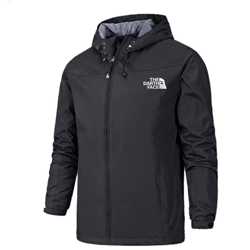 2021 Winter Jacket Men Lightweight Hooded Zipper Waterproof Coat Windproof Warm Solid Color Fashion Male Coat Outdoor Sportswear