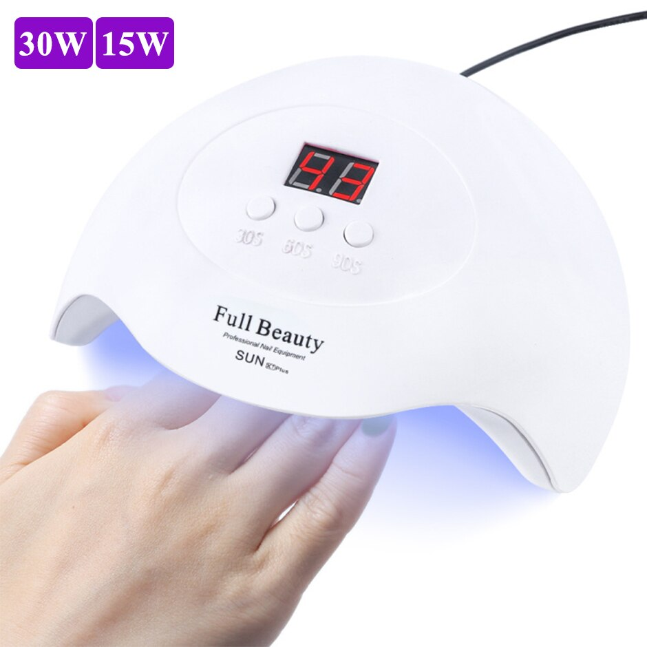 30W UV lámpara LED de uñas de manicura secador de curar todo tipo Gel polaco de secado rápido máquina USB equipo de arte para uñas herramienta LESUNX7Plus