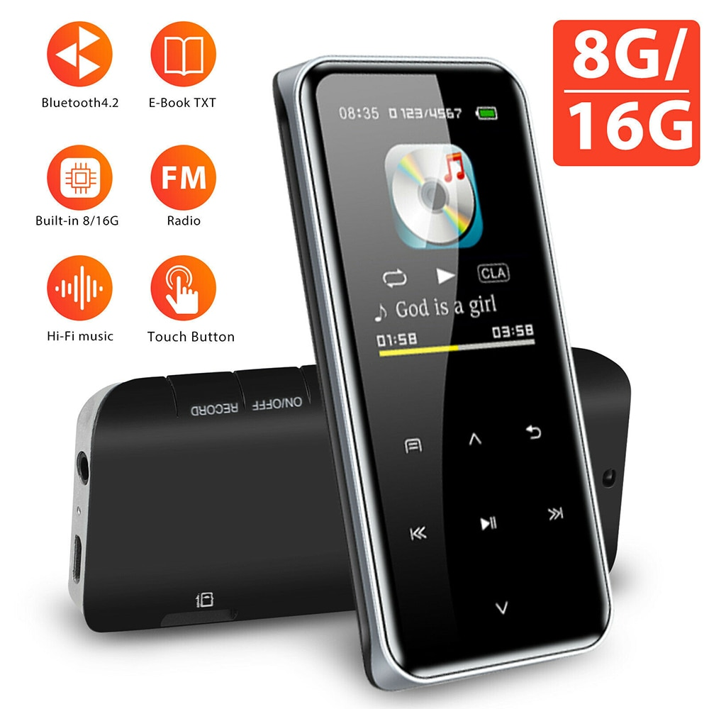 New Version M22 Bluetooth HIFI MP3 Music Player with Touch Screen and Bulit-in 8/16GB Portable Walkm