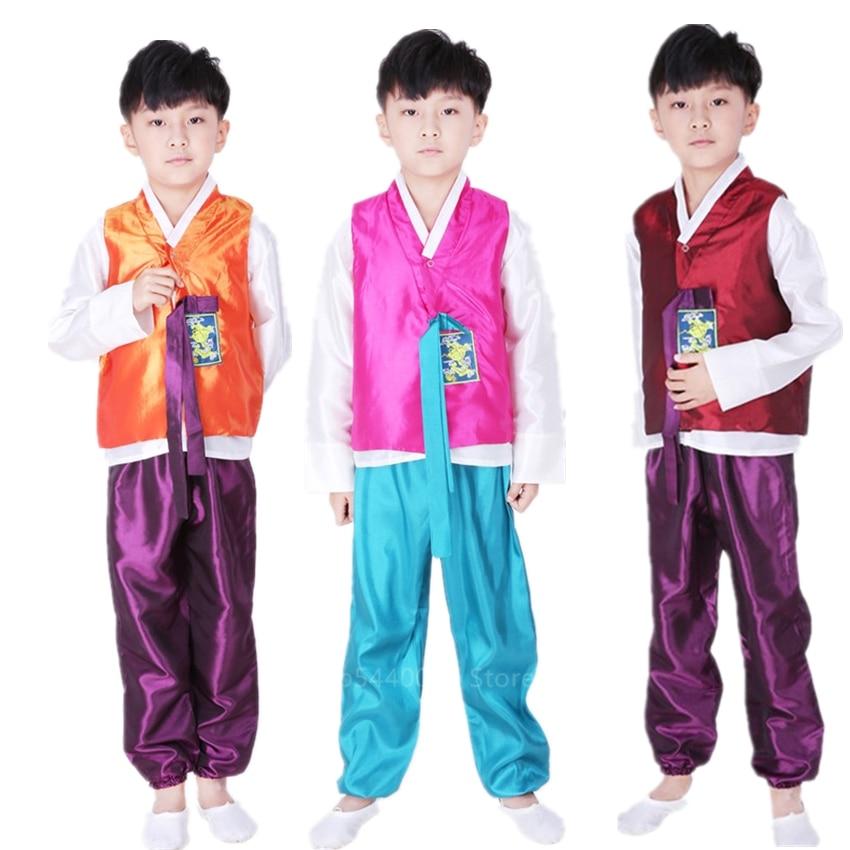 Traje tradicional coreano Hanbok de niño de nacionalidad Hanbok, ropa de actuación para niños de palacio coreano, baile de 100-170CM