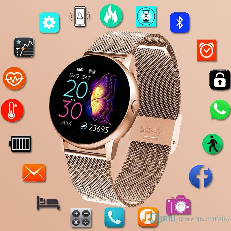 Toque completo relógio inteligente feminino esporte de luxo smartwatch para android ios senhoras eletrônica inteligente-relógio feminino bluetooth relógio inteligente