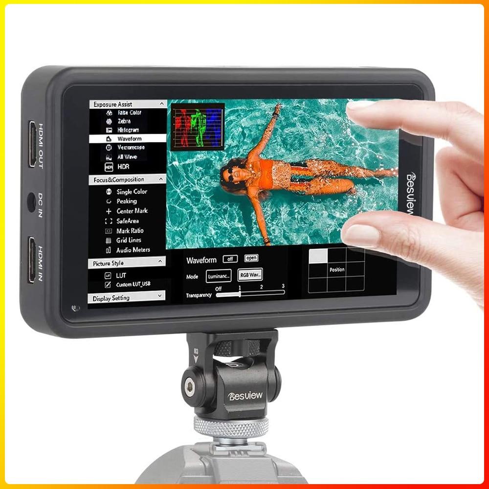 Desview-شاشة تعمل باللمس الميدانية للكاميرا ، شاشة 5.5 بوصة R5 ، 1920x1080 IPS ، مع HDR 3D-Luts ، نظام بطارية ثنائي الاستخدام لكانون سوني