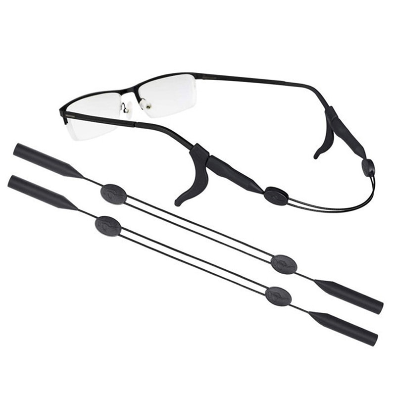 Black Lanyard Glasses Strap Rope Adjustable Neck Cord Water Sport Eyeglasses Accessories Sunglasses