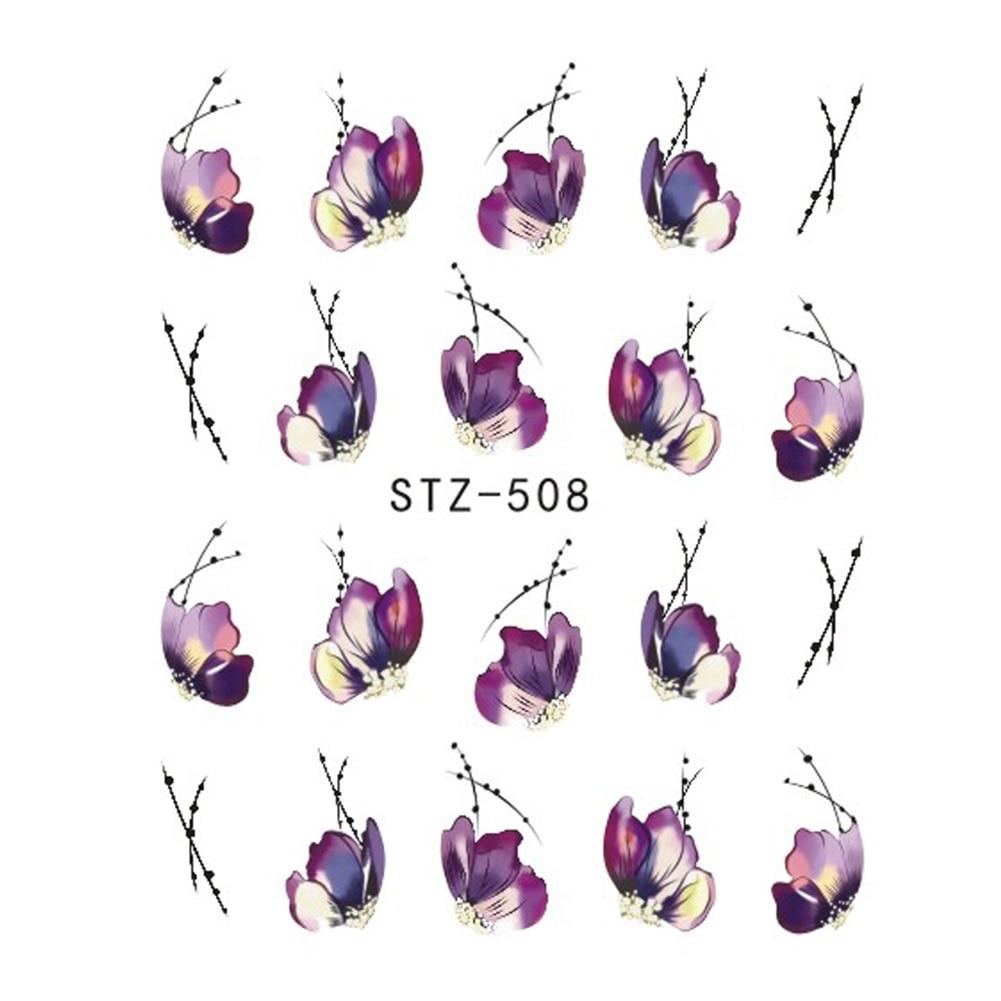 10 hojas Hot Butterfly Bow Designs decoración de uñas brillante pegatinas brillantes para uñas arte decoraciones manicura consejos herramientas