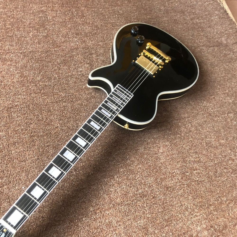 New arrival top quality 1959 R9 Vos custom black beautify Electric Guitar,Ebony fingerboard.A piece of pickup,Golden hardware enlarge