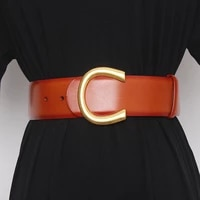 luxury double sided leather belt wide leather belt for womens wool coat casual denim belt designer brand high quality 5cm