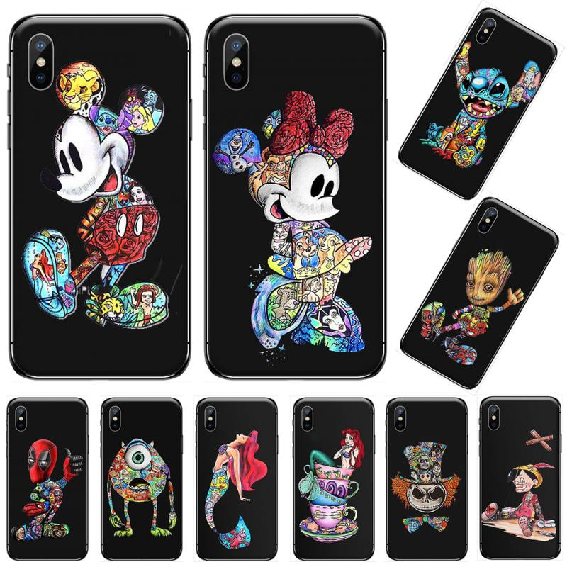 Tatuaje de dibujos animados hombre muerto Iron Man lujo diseño único teléfono cubierta para iphone 5 5s 5c se 6 6s 7 8 plus x xs xr 11 pro max