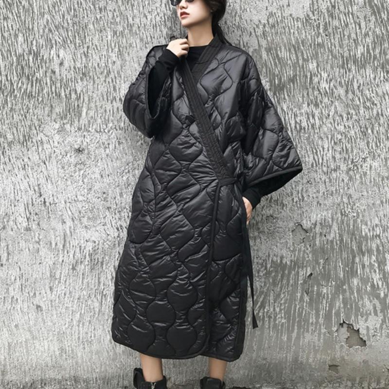 Женская ветровка LANMREM, ветровка с рукавами «летучая мышь» большого размера в японском стиле на весну и зиму 2020