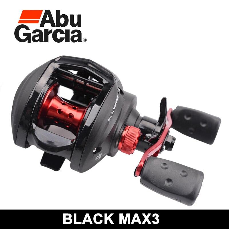 Abu garcia baitcasting carretel de pesca preto max esquerda/direita 4 + 1 relação engrenagem 6.4 1 max arraste 8kg carretel de pesca rodas bobinas água salgada