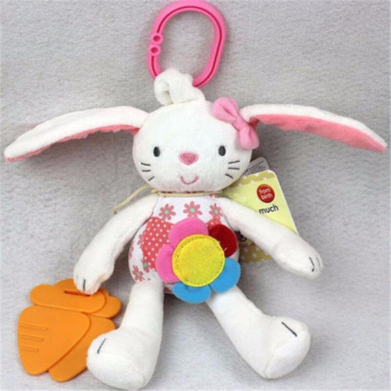 Leuke Roze Bunny Boby Bed Opknoping Home Decoratie Baby Speelgoed Zachte Pluche Konijn Kids Rammelaar Ring Bel Wieg Bed Opknoping dier Speelgoed