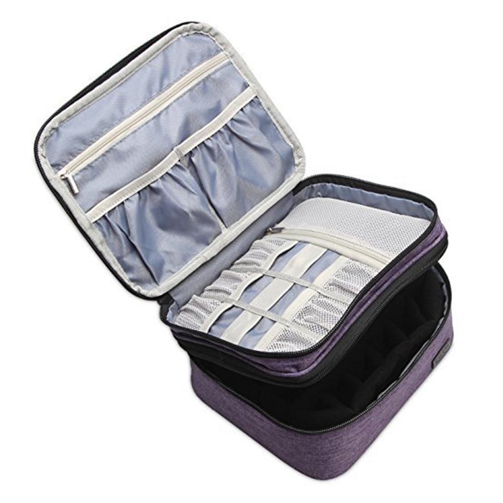 30 شبكات زيت طبيعي حقيبة التخزين 5-30 مللي زجاجة زيت طبيعي صندوق تخزين مع الأسطوانة منظم منزلي